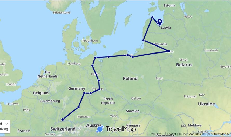 Unsere Reiseroute
