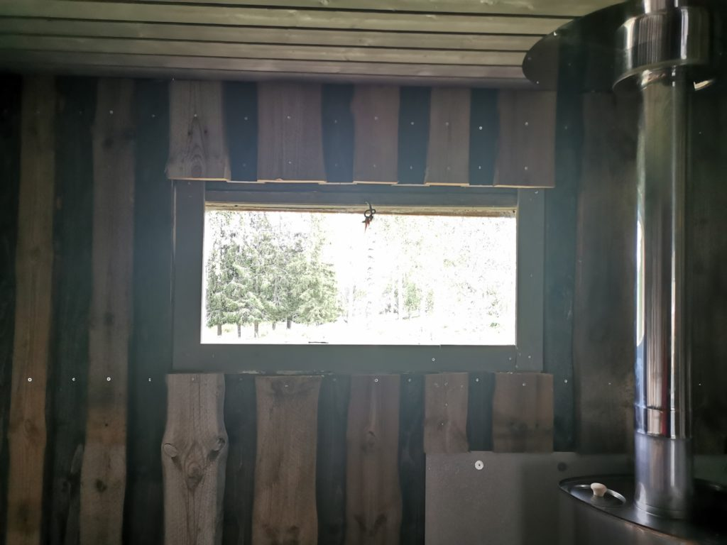 Fenster Sauna