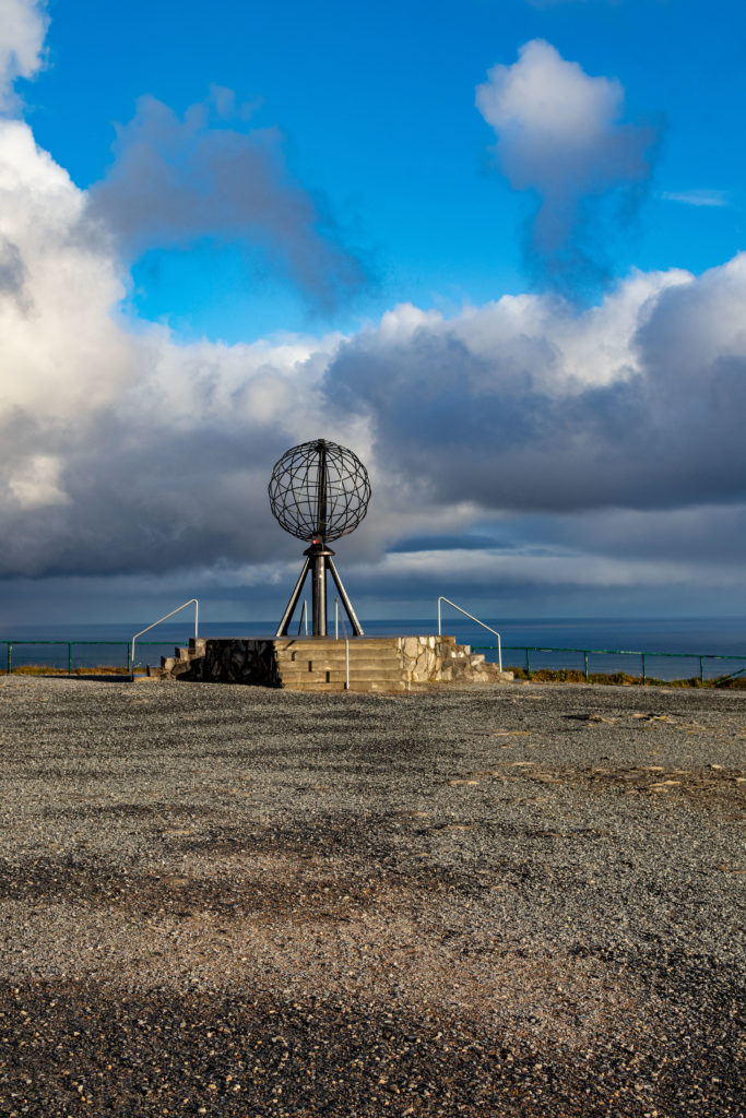 Globus am Nordkapp