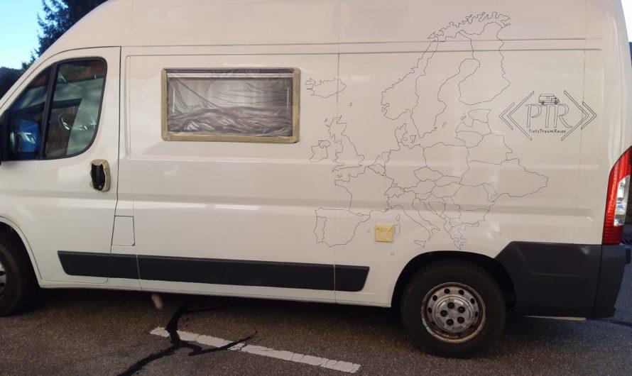 Wir bemalen unseren Van