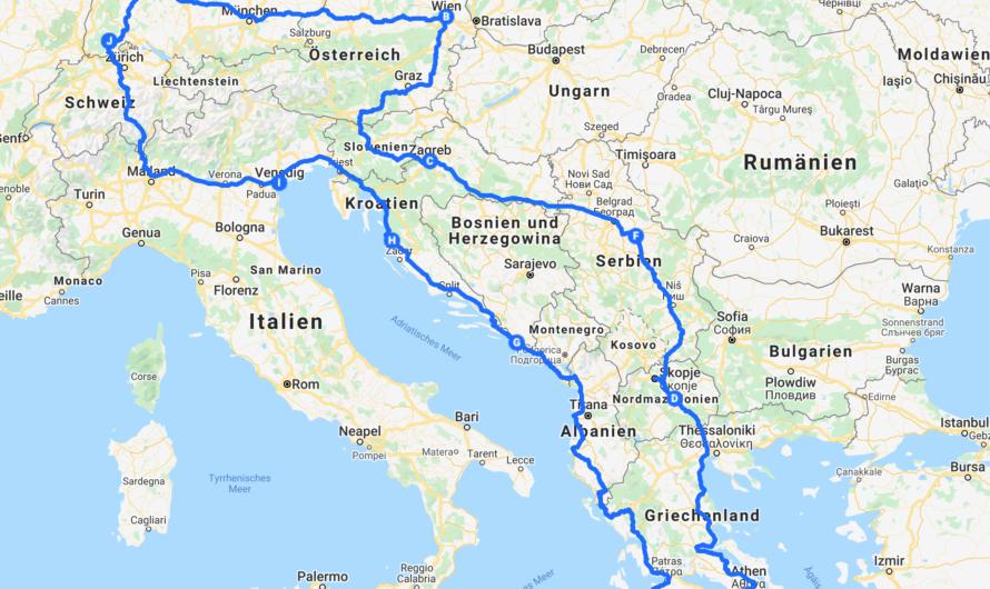 Routenplanung Europareise Teil 1 – Balkan