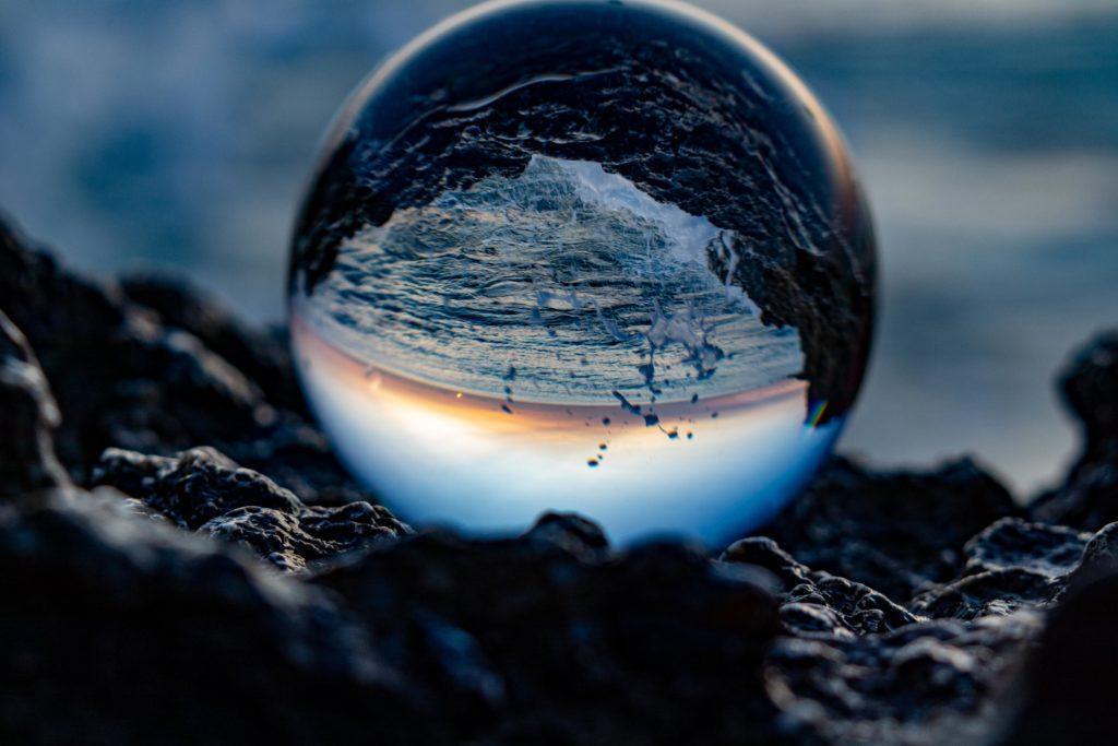 Kugel Wasserspiegelung