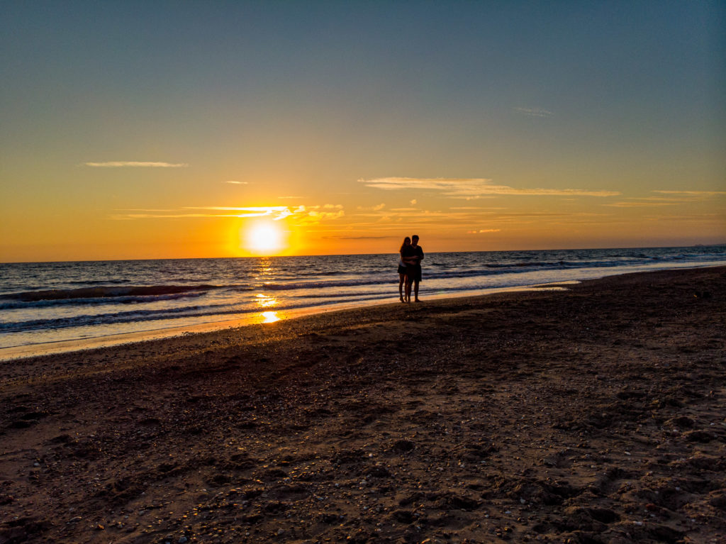 Wir und Sonnenuntergang